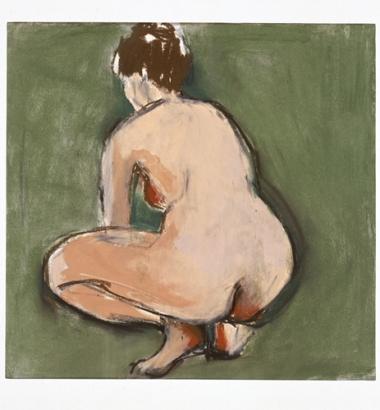 Ellen Meuwese, Hurkende vrouw, Gemengde techniek, 1987