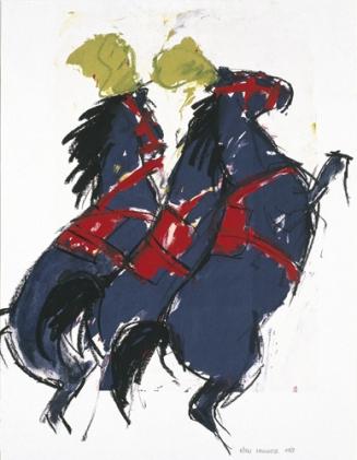 Ellen Meuwese, Circuspaarden, Gemengde techniek, 1989