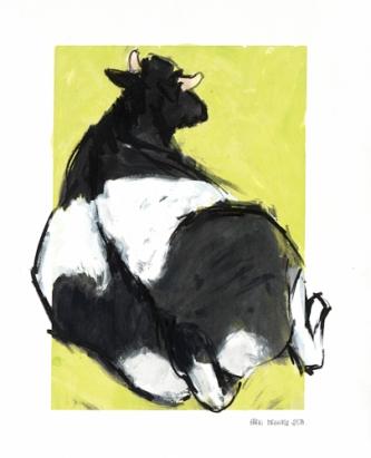 Ellen Meuwese, Liggende Koe, Gemengde Techniek, 2000